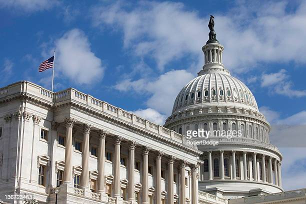 U.S. Capitol with American Flag
