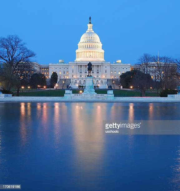 U.S. Capitol with reflecting pool
