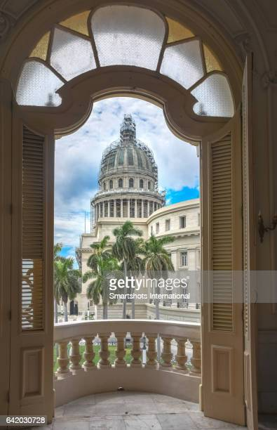 Capitolio Nacional of Cuba seen from 'Gran Teatro de la Habana', Cuba, a UNESCO Heritage site