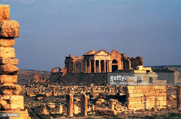 Capitolium temples dedicated to the Capitoline Triad Sufetula Sbeitla Tunisia Roman civilisation 2nd century AD