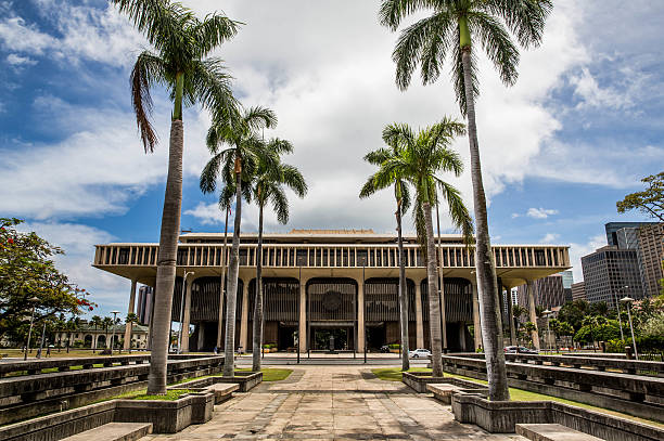 capitols - hawaii state capitol stock pictures, royalty-free photos & images