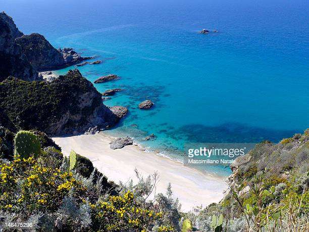 capo vaticano beach - calabria stock pictures, royalty-free photos & images