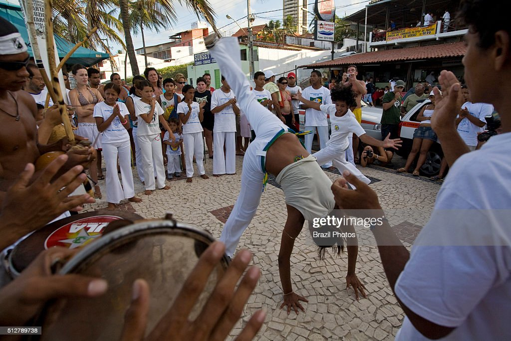 Capoeira, a Brazilian martial art form combining dance, can be interpreted as a tradition, a sport and even an art form