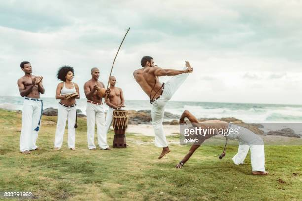 capoeira at beach in Salvador Brazil