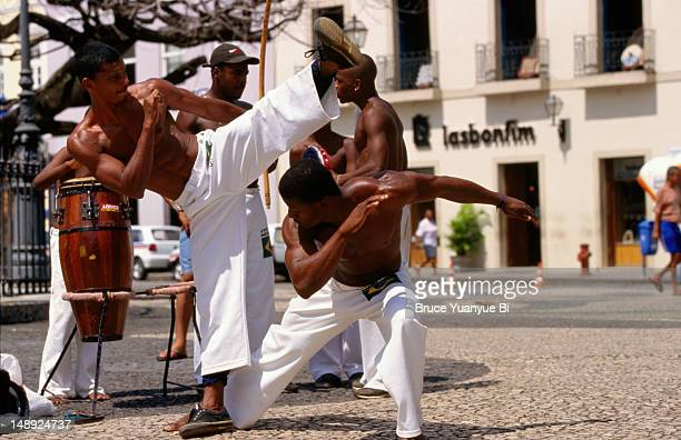 Capoeira, martial art of dancing, performed in Terrieiro de Jesus.