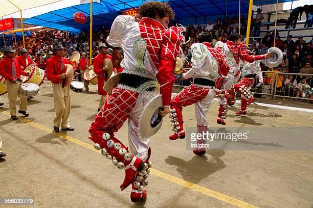 Caporales Dancers In The Procession Of The Carnaval De Oruro, Oruro, Bolivia