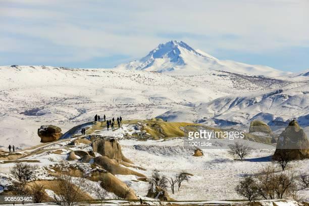 cappadocia at winter - central anatolia stock photos and pictures