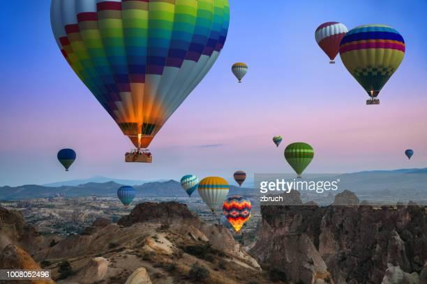 cappadocia balloon tour - anatolia stock pictures, royalty-free photos & images