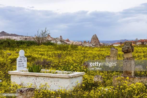 cappadocia, cemetery - dafos stock photos and pictures