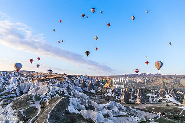 Cappadocia, Sunrise sky with hot air balloons