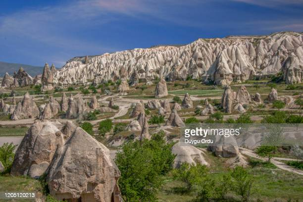 cappadocia view in nevsehir turkey - カッパドキア ストックフォトと画像