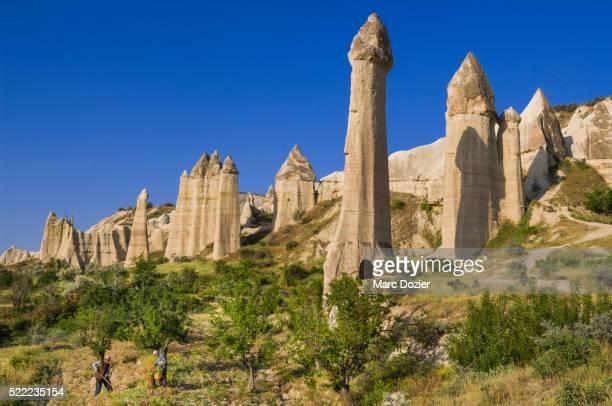 cappadocian farmer - rock hoodoo stock pictures, royalty-free photos & images