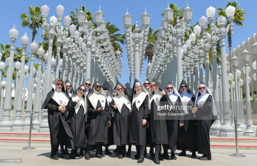 "CA: A Cappella Nuns From The Chattering Order Of St. Beryl Perform At The Grove And LACMA Ahead Of Amazon's Premiere Of ""Good Omens"""