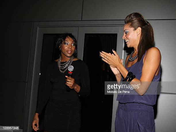Cappie Pondexter and Nicole Powell attends 4 Season Style Management's 4 Season Style Preview at the Eventi Hotel on August 11 2010 in New York City