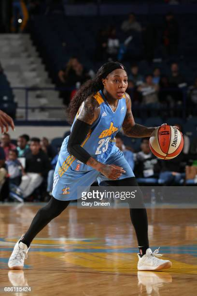 Cappie Pondexter of the Chicago Sky handles the ball against the Atlanta Dream on May 19 2017 at the Allstate Arena in Rosemont Illinois NOTE TO USER...