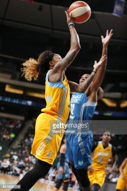 Cappie Pondexter of the Chicago Sky shoots the ball against the Minnesota Lynx on September 1 2017 at Xcel Energy Center in St Paul Minnesota NOTE TO...