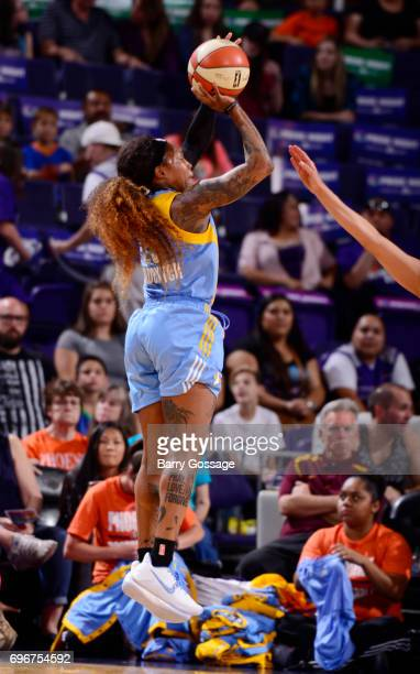 Cappie Pondexter of the Chicago Sky shoots the ball against the Phoenix Mercury on June 16 2017 at Talking Stick Resort Arena in Phoenix Arizona NOTE...