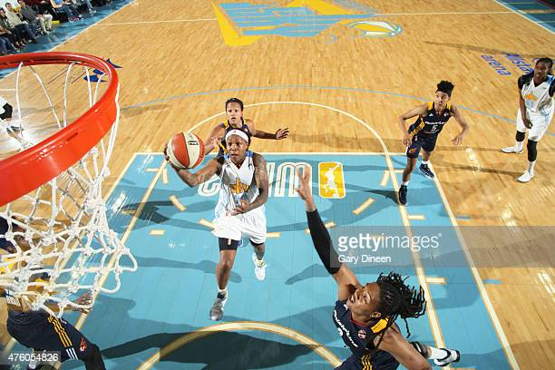 Cappie Pondexter of the Chicago Sky takes a shot against the Indiana Fever during a WNBA game on June 5 2015 at the Allstate Arena in Glenville...