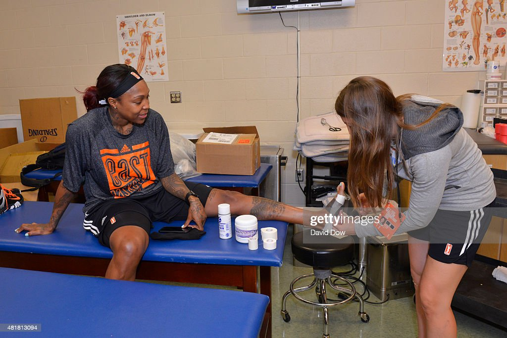 2015 WNBA All-Star Practice and Media Availability : News Photo