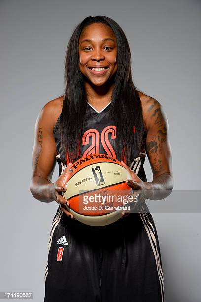 Cappie Pondexter of the Eastern Conference AllStars poses for a portrait during the WNBA AllStar Media Circuit on July 26 2013 at Mohegan Sun Arena...