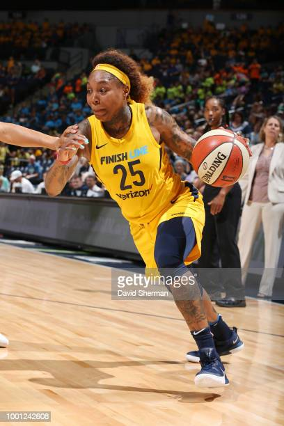 Cappie Pondexter of the Indiana Fever handles the ball against the Minnesota Lynx on July 18 2018 at Target Center in Minneapolis Minnesota NOTE TO...
