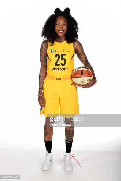 Cappie Pondexter of the Los Angeles Sparks poses for a portrait at the 2018 Media Day at Los Angeles Athletic Club on May 15 2018 in Los Angeles...