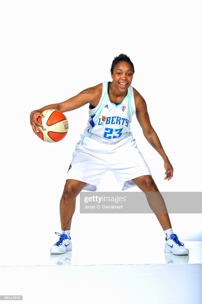 Cappie Pondexter #23 of the New York Liberty poses for a photo during WNBA Media Day on May 12, 2010 at the MSG Training Facility in Tarrytown, New York.