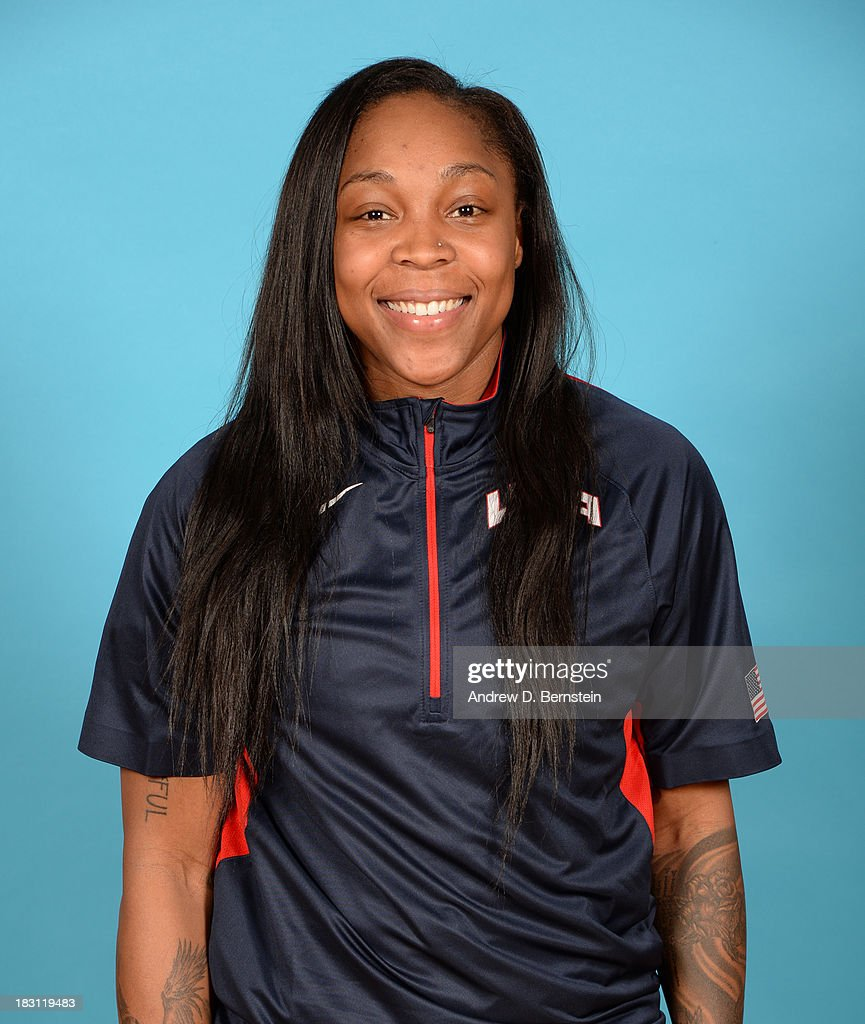 Cappie Pondexter poses for a head shot during the USA Womens National Team Mini-Camp on October 4, 2013 at the Cox Pavilion in Las Vegas, Nevada.