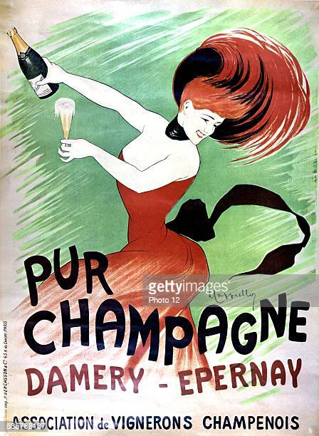 Cappiello advertising poster for champagne 20th century France