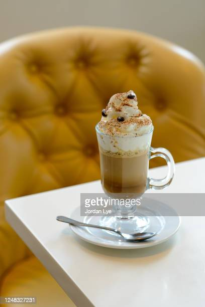 cappuccino frappe - mocha stock pictures, royalty-free photos & images