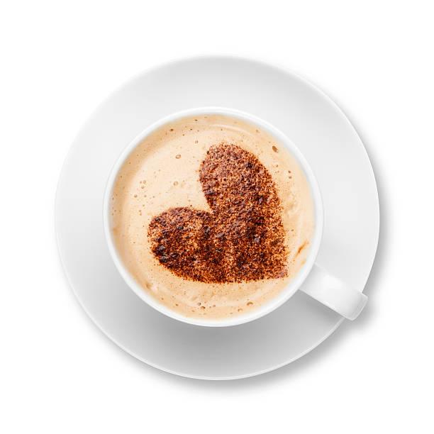 Cappaccino Coffee With Chocolate Heart Wall Art