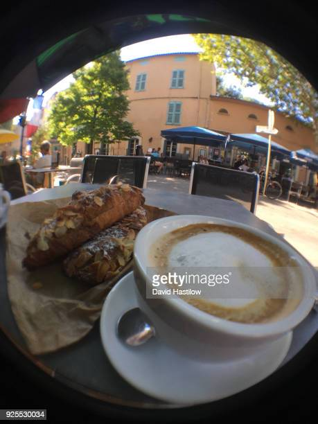 cappuccino lorgues france - lorgues stock photos and pictures