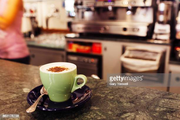Cappuccino on a bar in Italy
