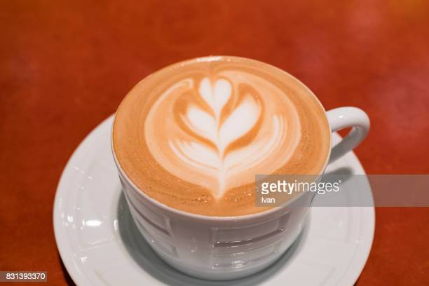 Cappuccino - One cup with decorated foam
