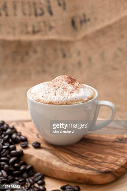 Cappuccino topped with chocolate sprinkles