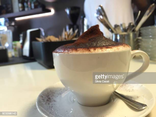 Cappuccino with cocoa powder