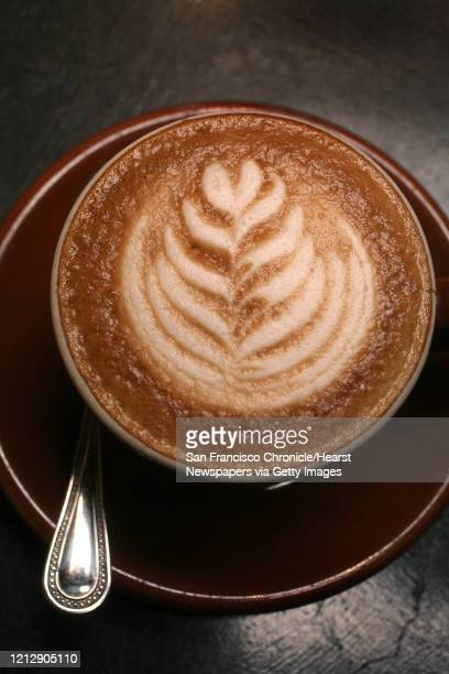 A cappucino made by barista Justin Teisl at Four Barrel Coffee in San Francisco Calif on Tuesday March 3 2009