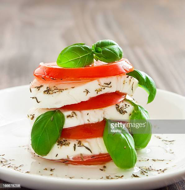 caprese - mozzarella stock photos and pictures
