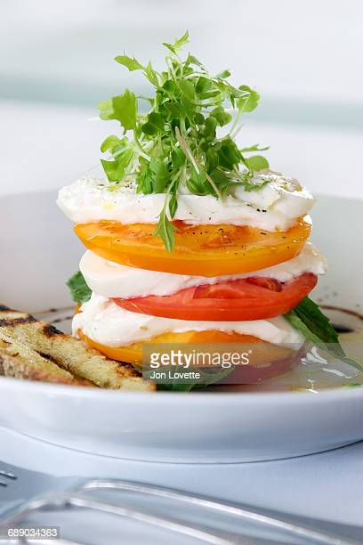 Caprese Salad made with burrata cheese