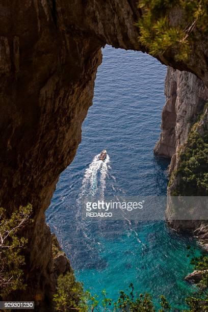 Capri Arco naturale e Pizzolungo natural arch Capri island Campania Italy Europe