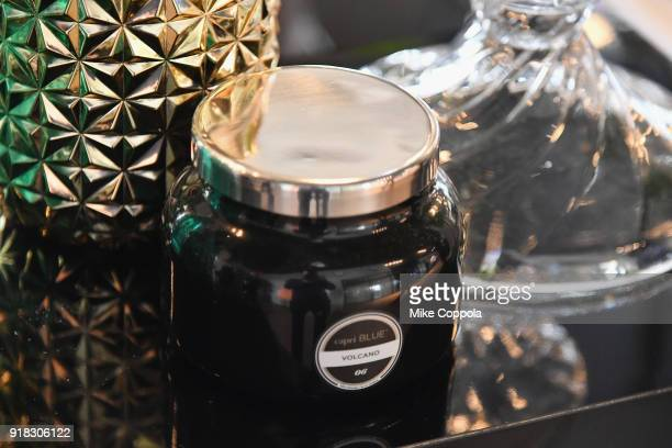 Capri Blue candle on display at the Etihad Airways VIP Lounge at NYFW The Shows during New York Fashion Week The Shows on February 14 2018 in New...