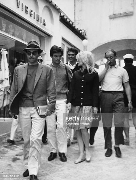 Capri Brigitte Bardot Sammy Frey Jean Luc Godard In 1963