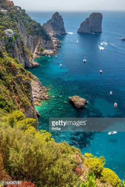 capri coast - capri stock pictures, royalty-free photos & images