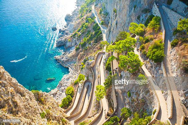 capri coast - capri stock pictures, royalty-free photos & images