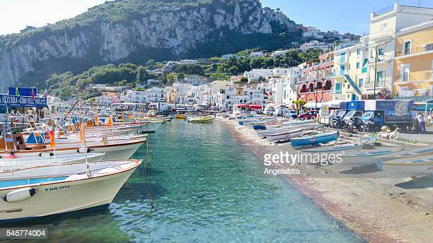 capri island landscape, marina grande - capri stock pictures, royalty-free photos & images