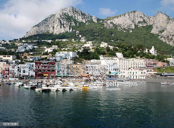 Capri Insel-Landschaft, Marina Grande.