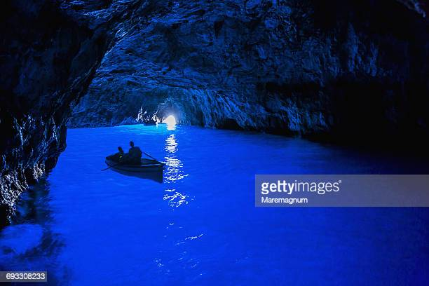 capri island, the grotta azzurra (blue grotto) - capri stock pictures, royalty-free photos & images