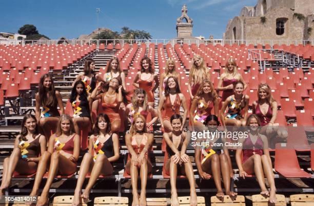 Capri Italie septembre 1970 Eileen Ford directrice de la plus célèbre agence de mannequins du monde a choisi Capri pour organiser son premier...