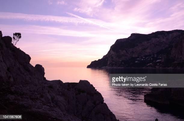 capri sunset - leonardo costa farias stock photos and pictures