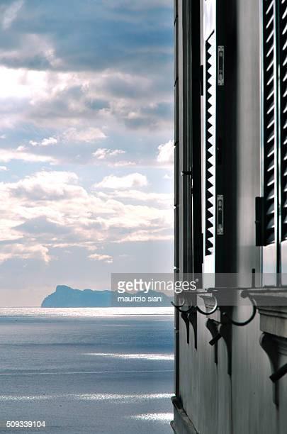 Capri view from Naples